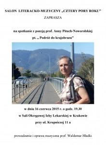 Prof. A. Pituch-Noworolska zaproszenie