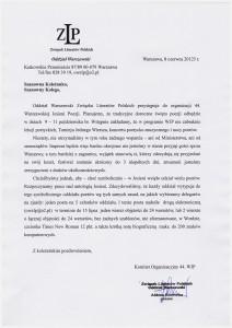 listo Prezesów - 44 WJP