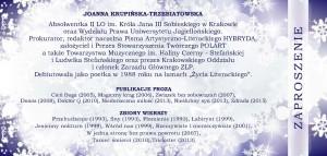 Zaproszenie, J. Krupińska-Trzebiatowska_Strona_1