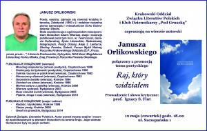 Janusz Orlikowski, zaproszenie