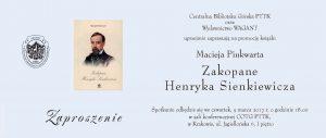 Maciej Pinkwart, Zaproszenie Krakow