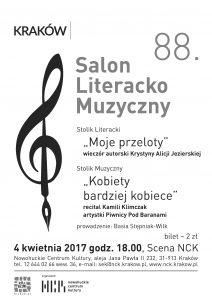 Jezierska, salon kwiecień 2017 plakat A3 A4