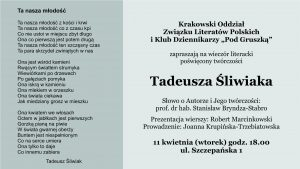 T. Śliwiak, zaproszenie