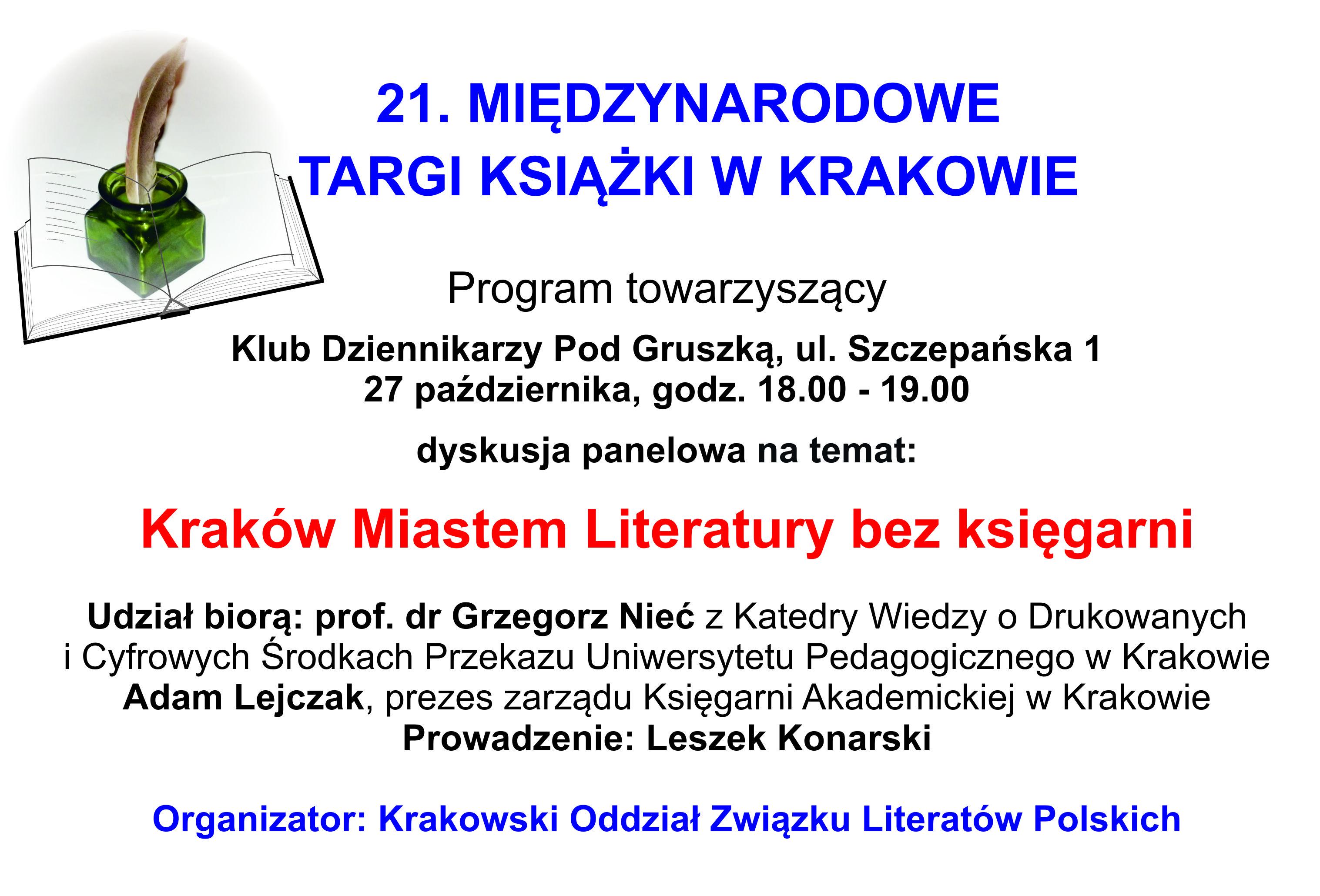 Danuta Sułkowska Strona 4 Krakowski Oddział Związku Literatów